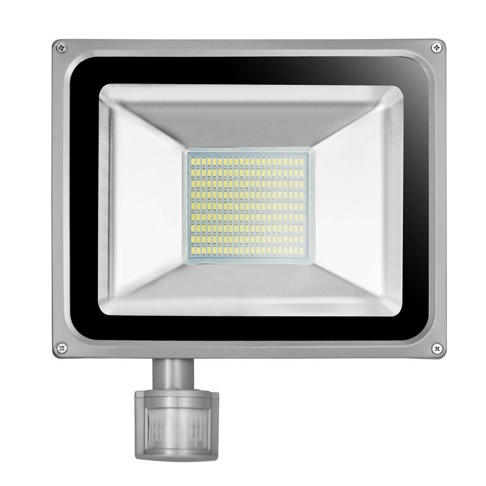 100w 220v 240v Led Flood Light 11000lm Ip65 Pir Motion Sensor Led Floodlight Reflector Led Spotlight Lamp Led Outdoor Flood Lights Flood Lights Spotlight Lamp