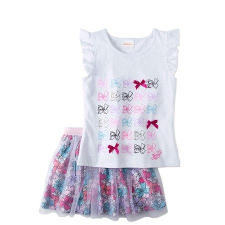 d257cb2471a Jojo Siwa Girls  7-16 Bow Ruffled Tank and Mesh Skirt 2-Piece Outfit ...