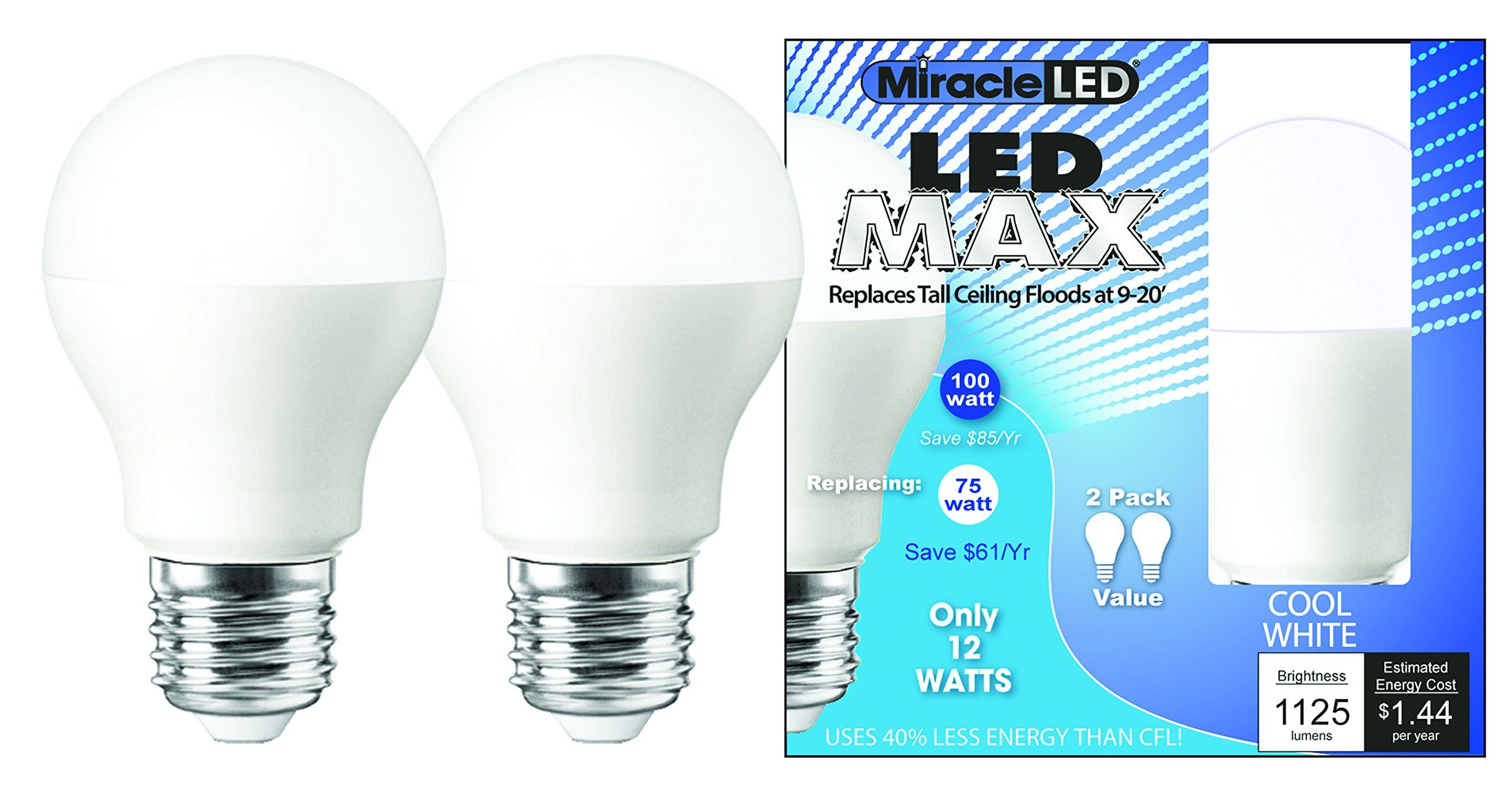 MiracleLED 604984 Max Cool Bulb Replaces 100W Light Bulbs