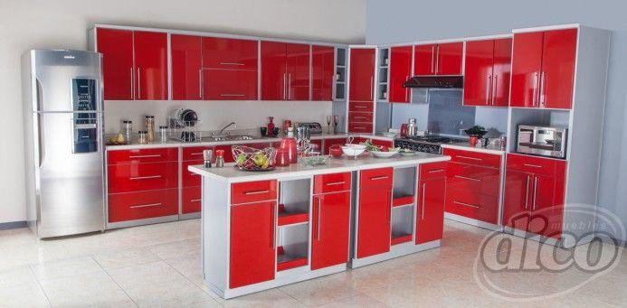 Osaka rojo cocina por modulos remodelaci n e ideas para for Cocinas integrales por modulos