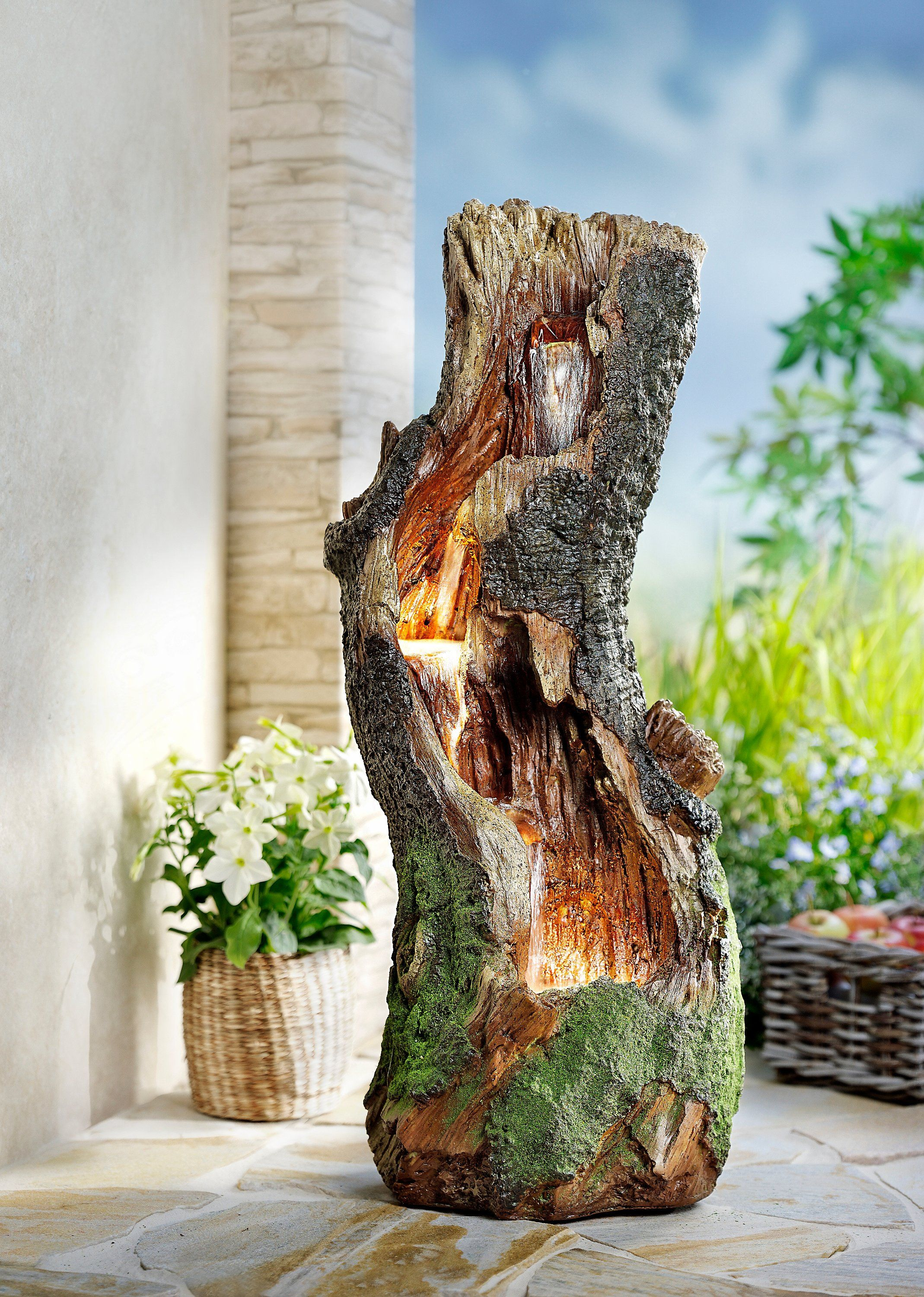 "Photo of Brunnen ""Wood"" mit LED"