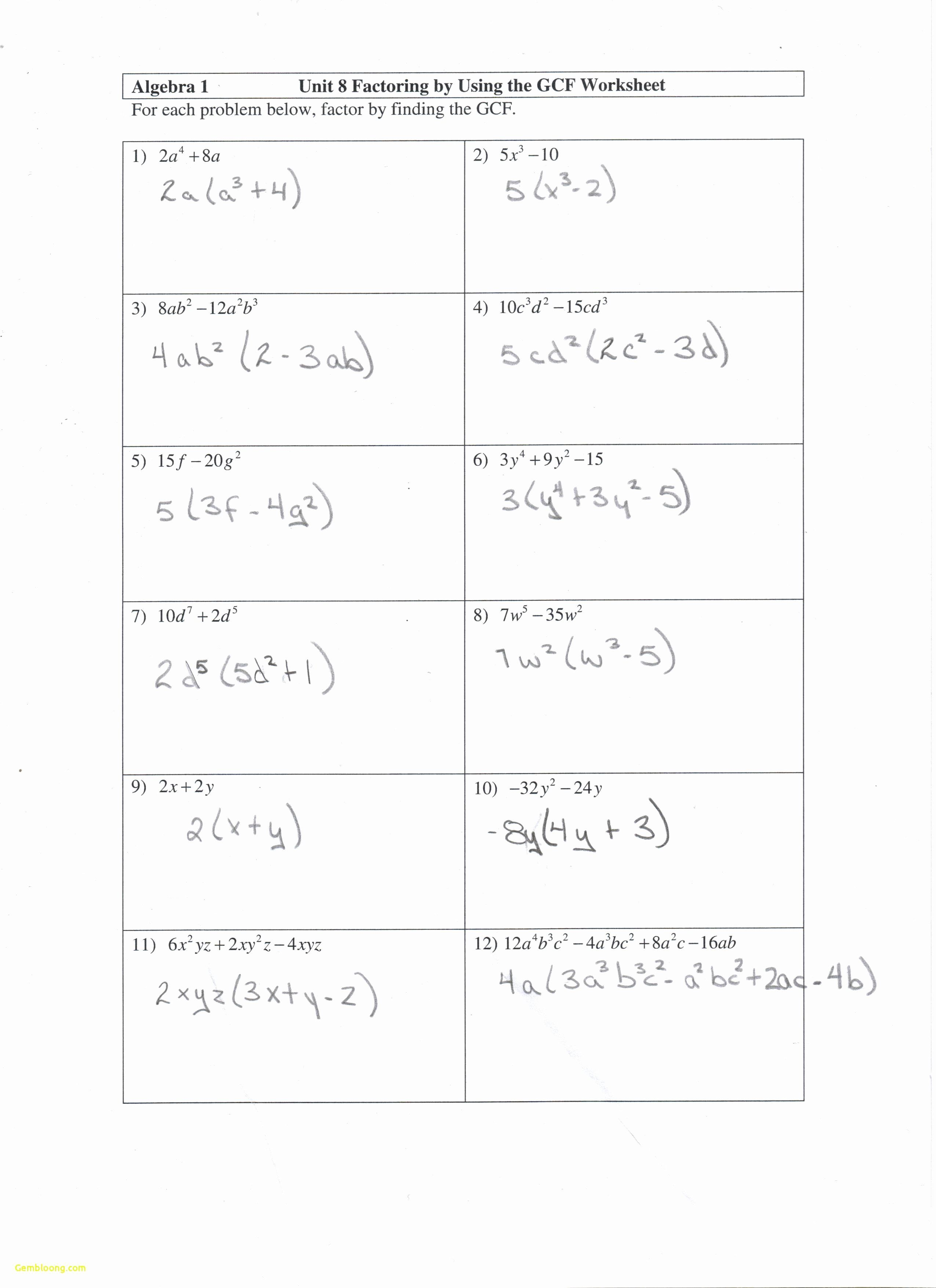 50 factoring trinomials worksheet answers in 2020