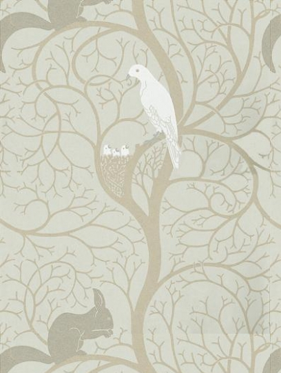 Squirrel U0026 Dove, A Designer Wallpaper From Sanderson, Featured In The  Sanderson Vintage Wallpapers