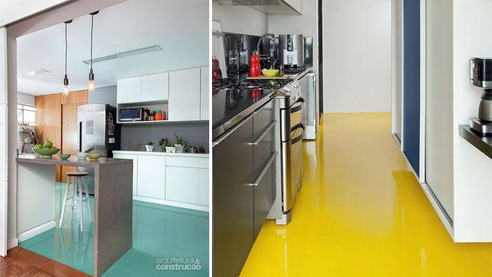 Resultado de imagem para piso pintado