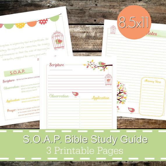 S O A P  Bible Study Guide Printables PDF, SOAP Christian