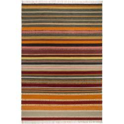 Photo of benuta wool carpet Ella Multicolor / Black 200×280 cm – natural fiber carpet made of wool benuta