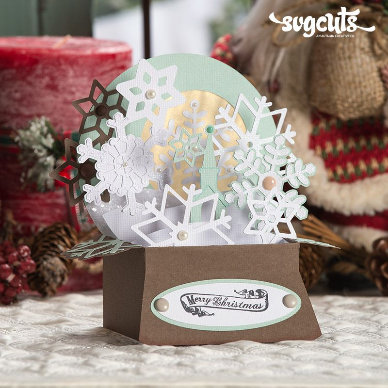 Free gift christmas box cards svg kit 699 value