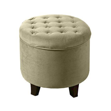 Outstanding Homepop Tufted Round Ottoman With Storage Multiple Colors Spiritservingveterans Wood Chair Design Ideas Spiritservingveteransorg