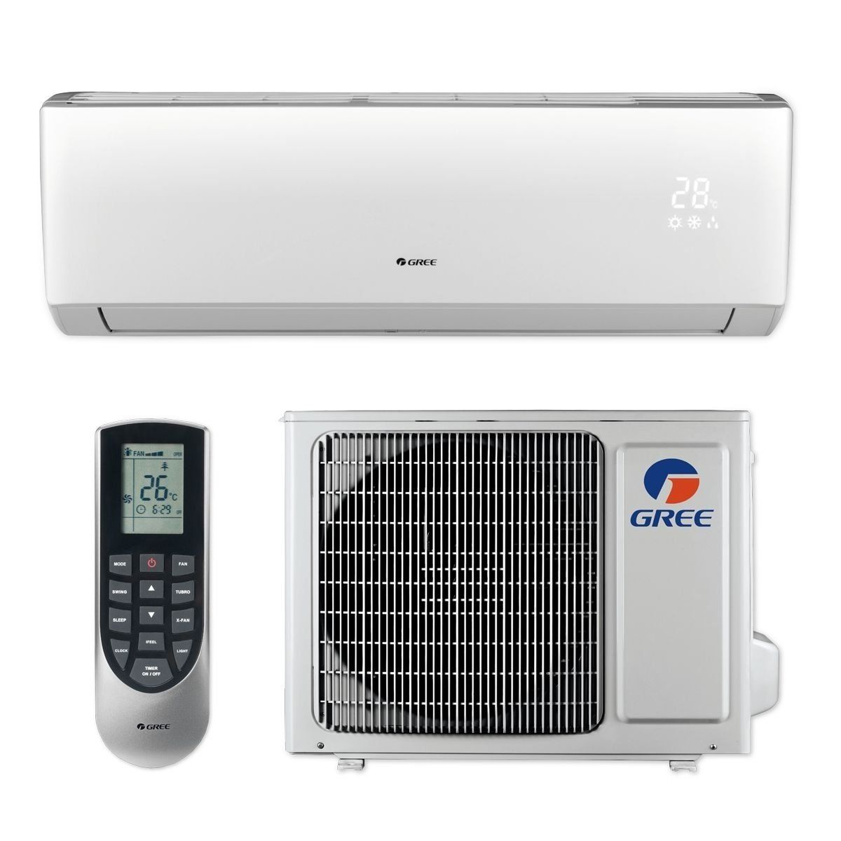 Gree Livs12hp115v1b 12 000 Btu 16 Seer Livo Wall Mount Ductless Mini Split A C Heat Pump 115v A C Heater Ductless Mini Split Ductless Heat Pump