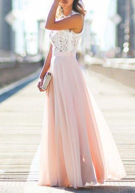 Schone lange kleider mit armel