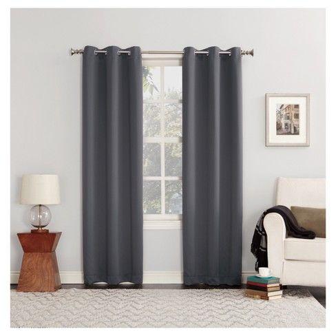 Sun Zero Kenneth Blackout Energy Efficient Grommet Curtain Panel Target Grommet Curtains Panel Curtains Grommet Top Curtains