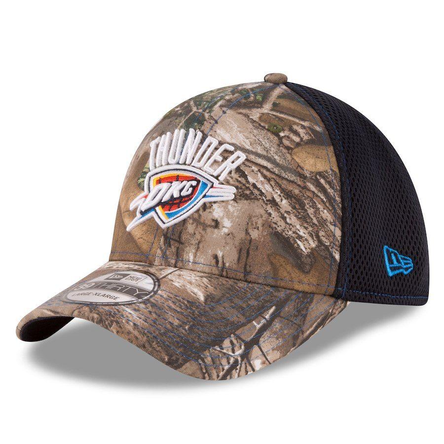 02c17a7ef9064 Men s Oklahoma City Thunder New Era Realtree Camo Current Logo Neo 39THIRTY  Flex Hat
