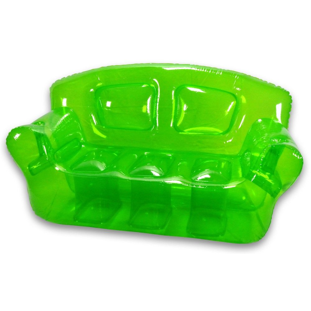 Inflatable Sofa Clear: Garden Green Inflatable Bubble Couch