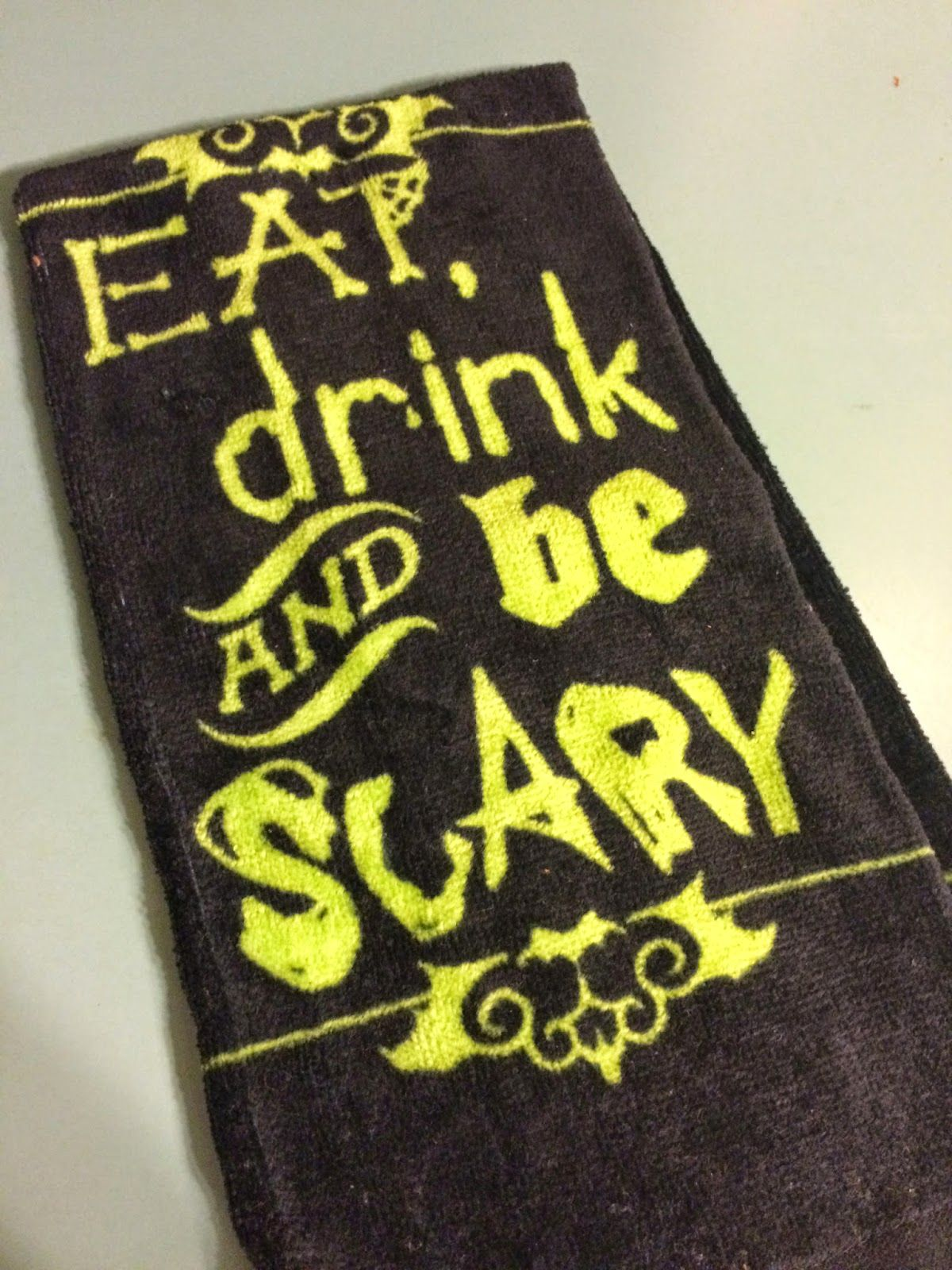 Eat, Drink, and Be Scary Dishtowels $2 at Dollar General ...