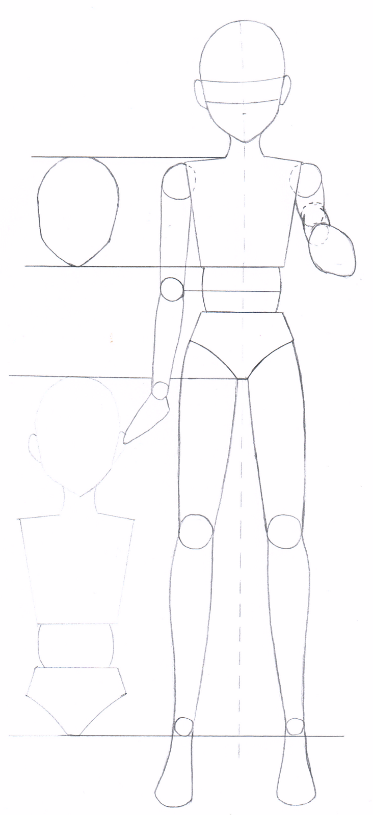 kompletter Körper einer Manga Mädchen | How to draw people, manga ...