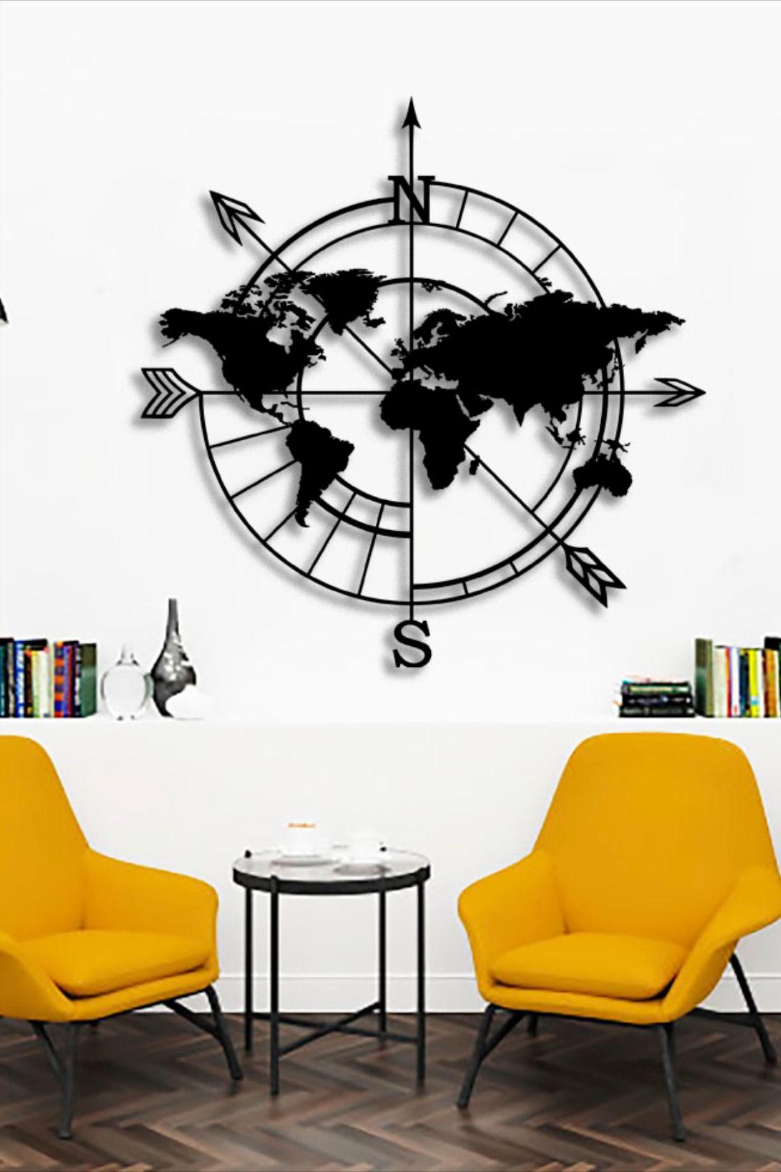 Karta Mira Iz Metala Travel Iron Decor Home Appliances Furniture
