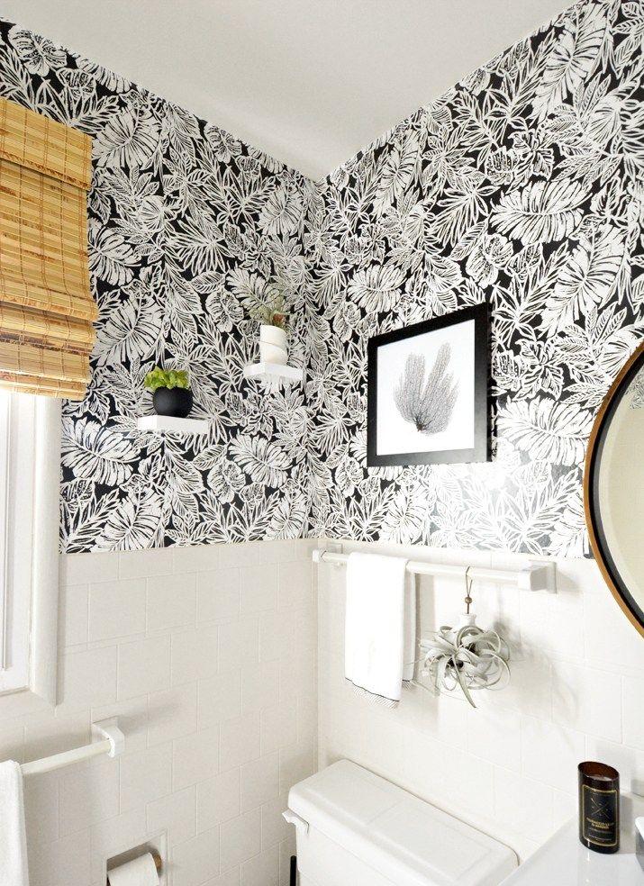 Sources for Peel & Stick Wallpaper Wallpaper bathroom