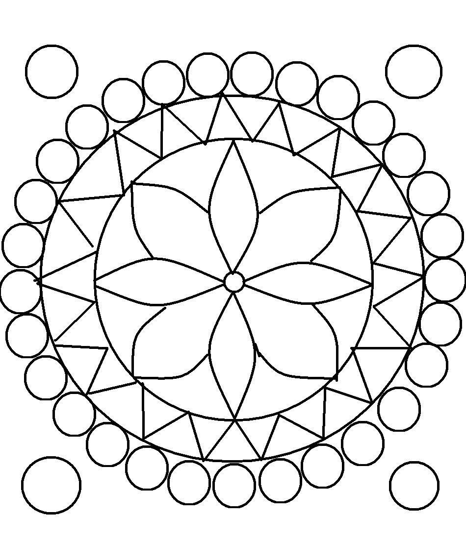 design coloring pages for teens rangoli design coloring printable page for kids 9 - Design Coloring Pages
