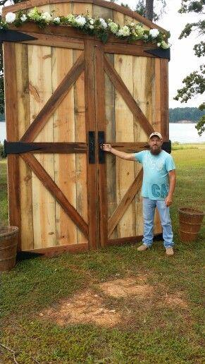 Barn Doors I Built For Wedding Back Drop Barn Door Wedding