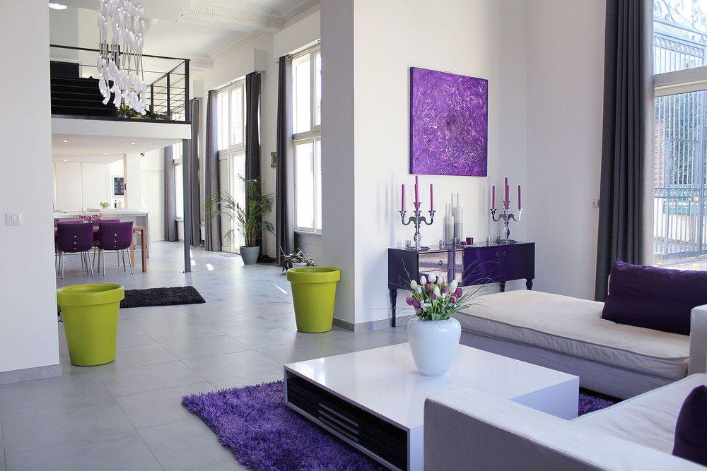 Pin By Atul Rosalinda On Interiors Purple Living Room Living Room Designs Living Room Modern