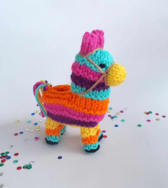 Donkey ornaments - Small Donkey Pinata Knitted Interactive Desktop Toy Pinata Desk Ornament Unique Soft Toy Stuffed Donkey Fiesta Decor Desk Decor