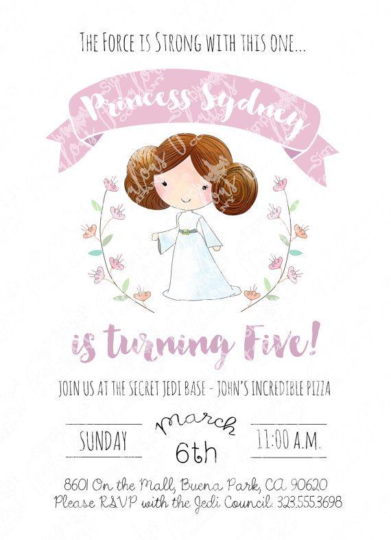 Princess Leia Birthday Party Invitation
