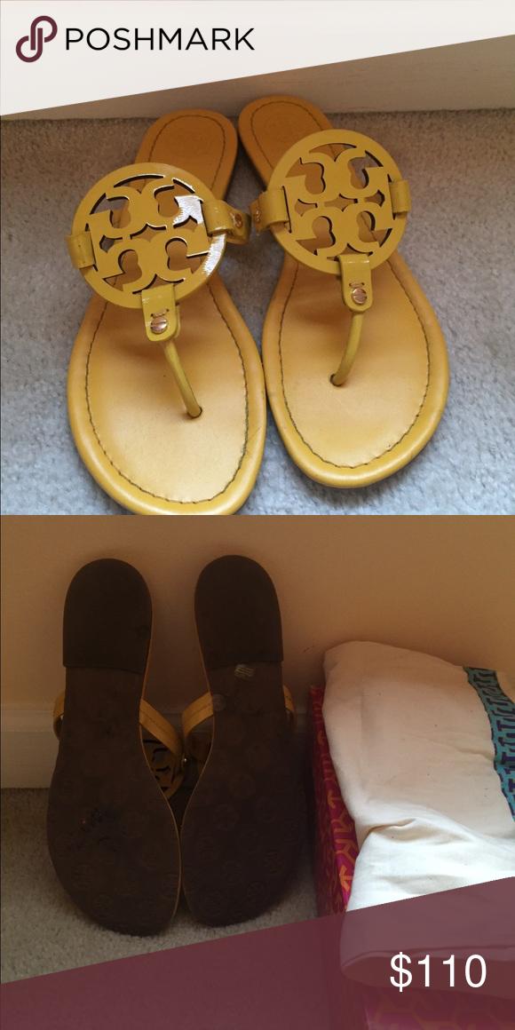 9ca34c8e456dd0 Tory Burch Miller Sandal Yellow Size 10 Tory Burch