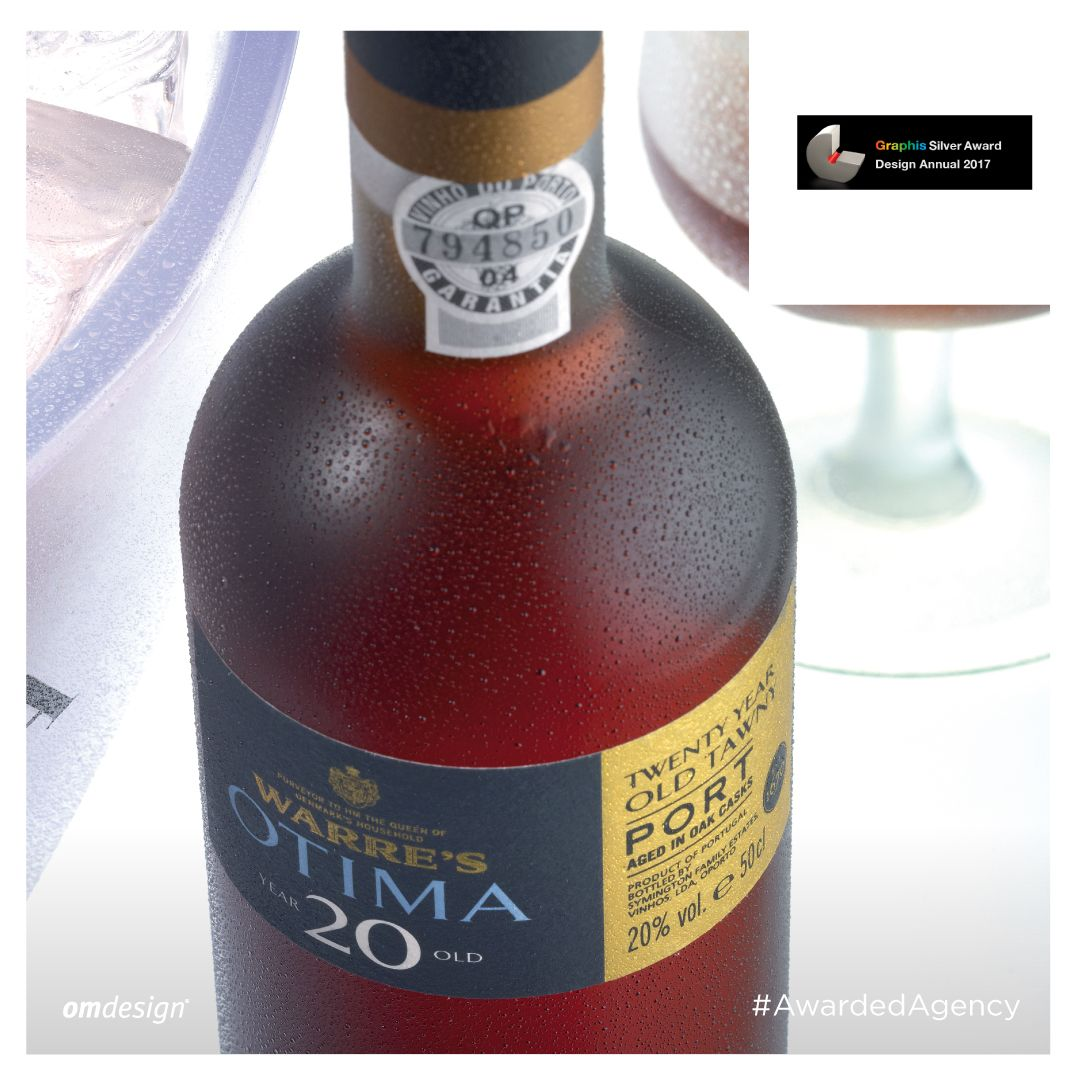 Packaging Otima 20  #Omdesign #Design #Portugal #LeçadaPalmeira #Since1998 #AwardedAgency #DesignAwards #PackagingDesign #WineBranding #Otima #Otima20YO #Warre's #Symington #SymingtonFamilyEstates #Warre's #VinhodoPorto #PortWine #Douro #IVDP #PortugueseWines #WinesofPortugal #Awards #Graphis #GraphisAwards #SilverAward #SilverWinner