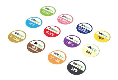 Food allergen & meat stickers (pack of 10) - Safer Eating ...
