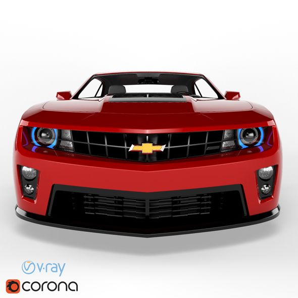 Chevrolet Camaro (6 Colors). Fully Editable And Reusable