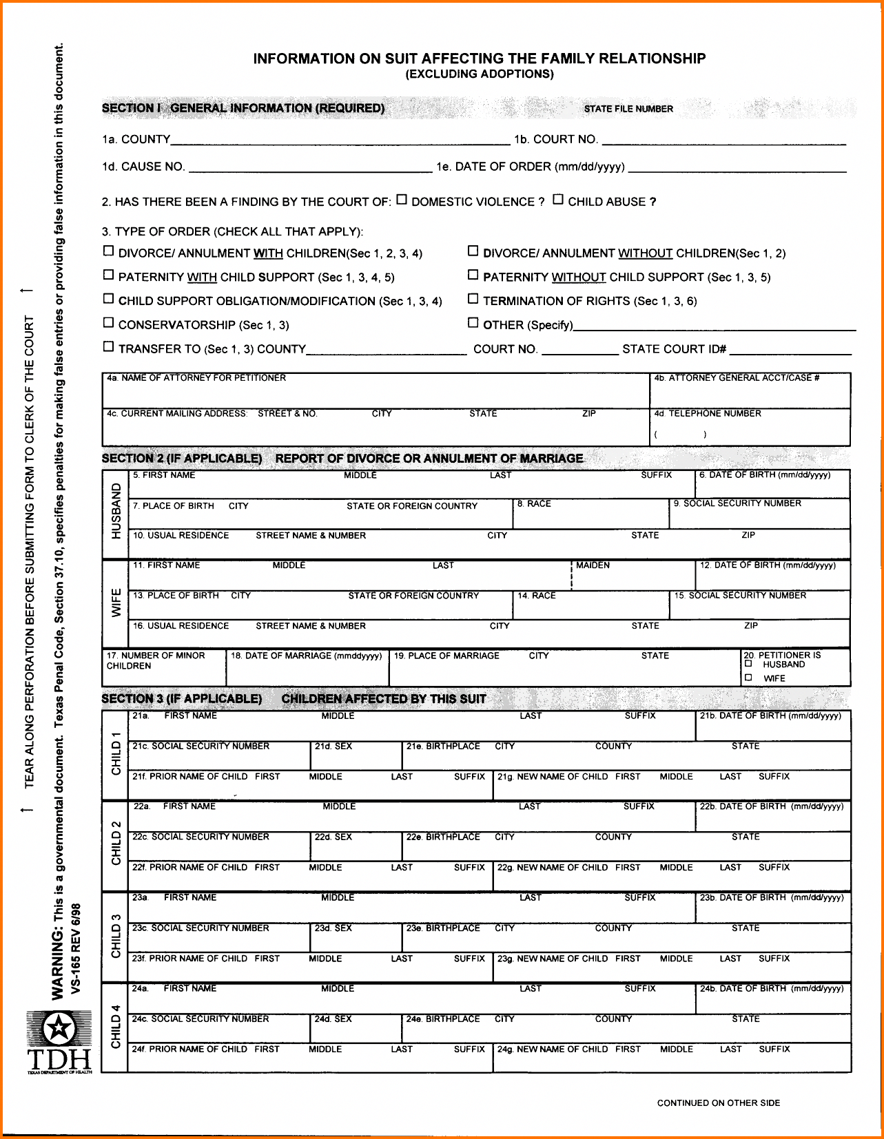 Printable Divorce Papers Florida Free Fake Forms Sample
