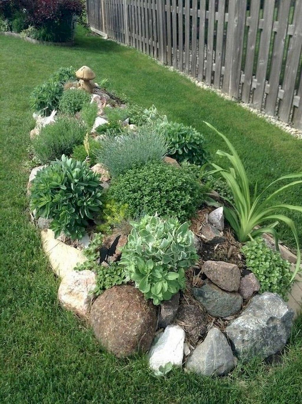 Simple Rock Landscaping Ideas Stone Planting Bed Done With