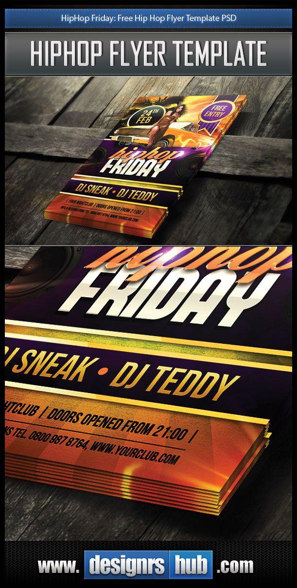 Hiphop Friday Free Hip Hop Flyer Template Psd Designrshub Gallery