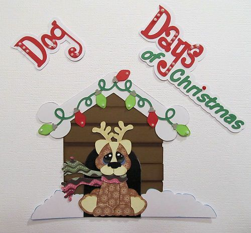 paper piecing christmas | Dog Days of Christmas Paper Piecing Premade Scrapbook Embellishments ...