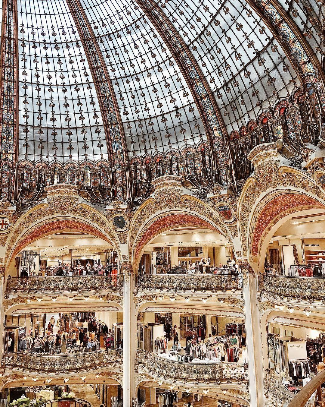 Galeries Lafayette Paris Travel Romantic City Travel