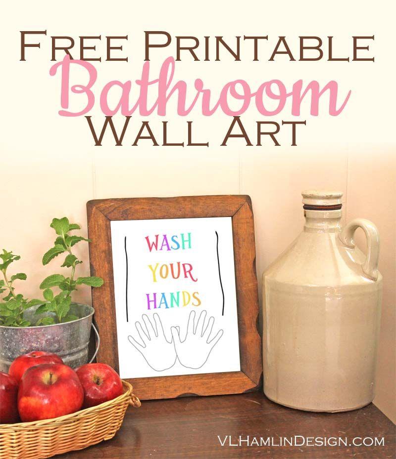 Free Printable Bathroom Wall Art | Bathroom wall art, Free ...