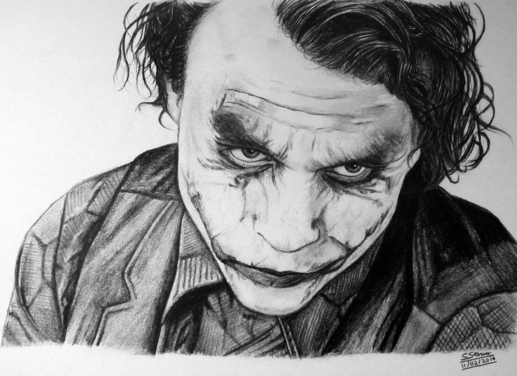 Joker Scribble Drawing : Why so serious draw joker heath ledger and