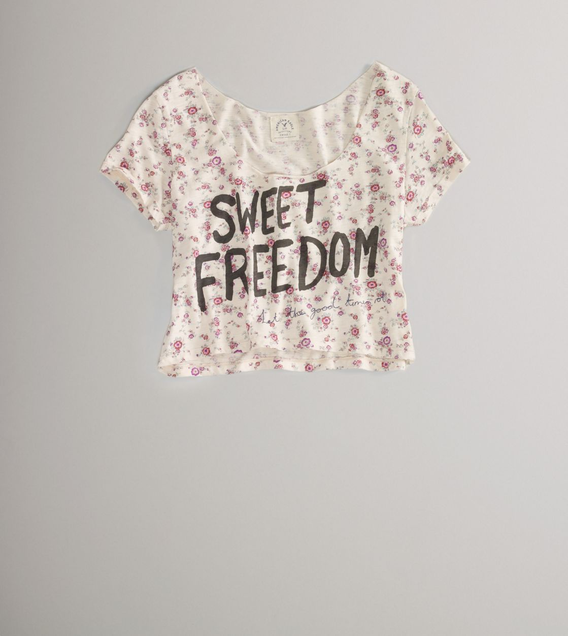 This cropped top was cute! Sweet Freedom Crop Tee by American Eagle