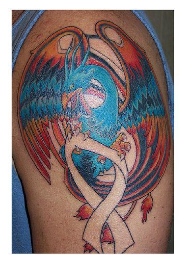 Phoenix Tattoo 2 Session Brain Cancer Ribbon Tattoos Pinterest