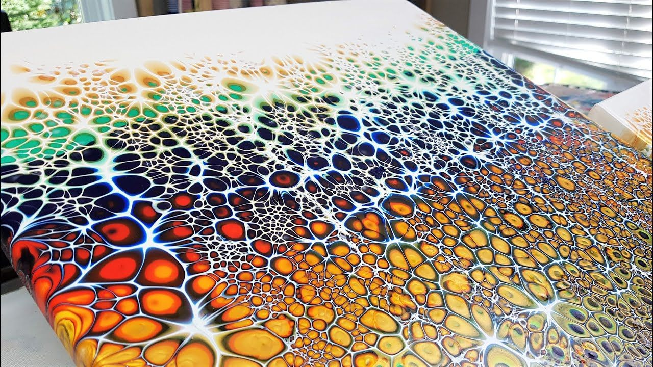 Acrylic paint pouring swipe best cells with premixed