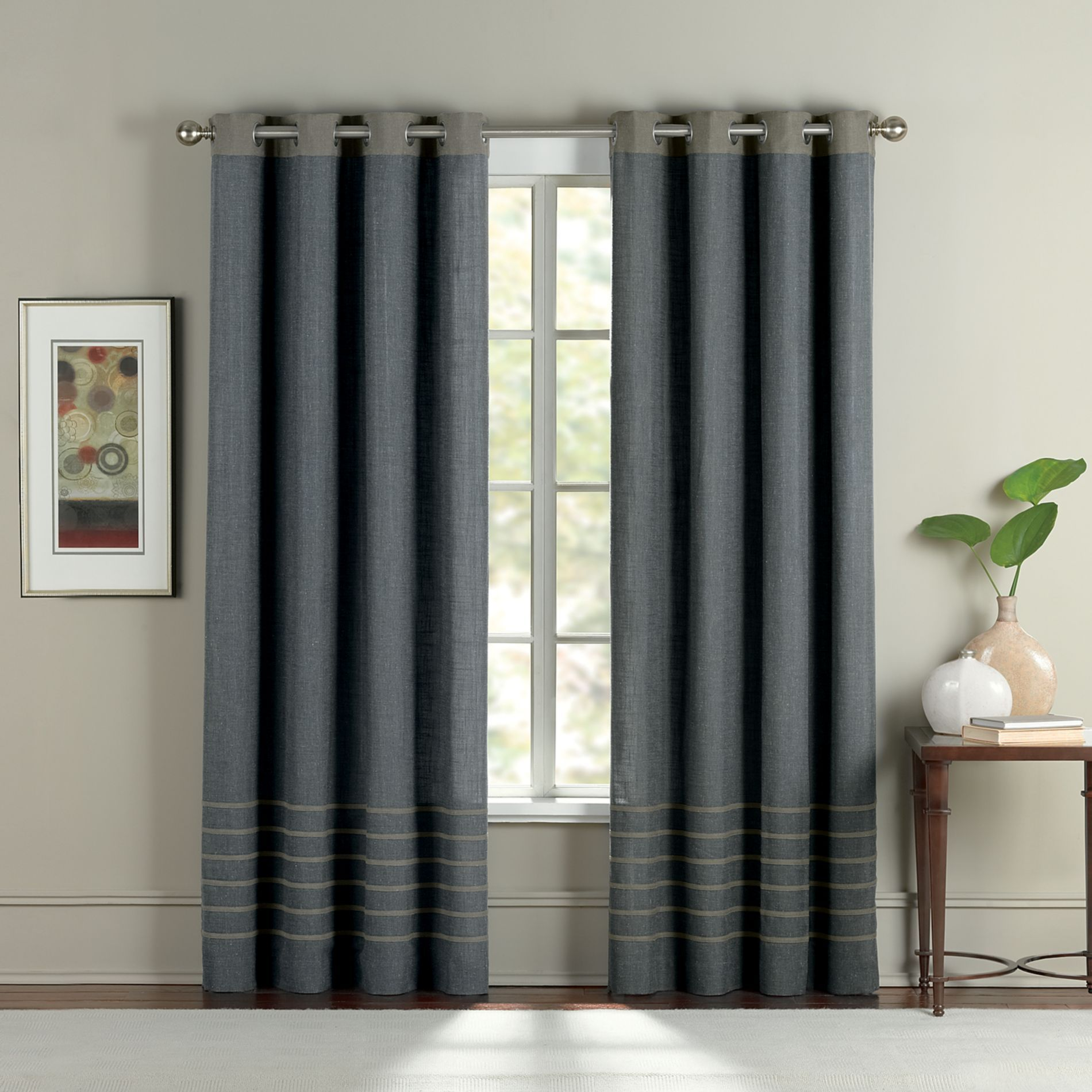 Avalon Grommet Window Curtain Panels  Bedbathandbeyondcom