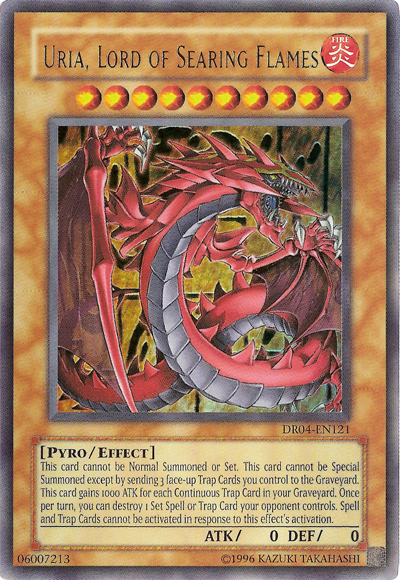 Yugioh Card Uria Lord Of Searing Flames Yu Gi Oh Cards