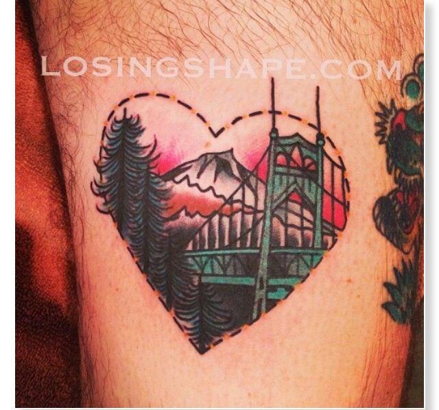 Portland Oregon tattoo. Old school. | Tattoo Ideas & Art | Bridge ...