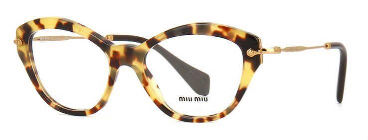 Óculos de grau Miu Miu 02OV Havana Amarelo - MIU MIU você encontra aqui.  Compre 480e909a97