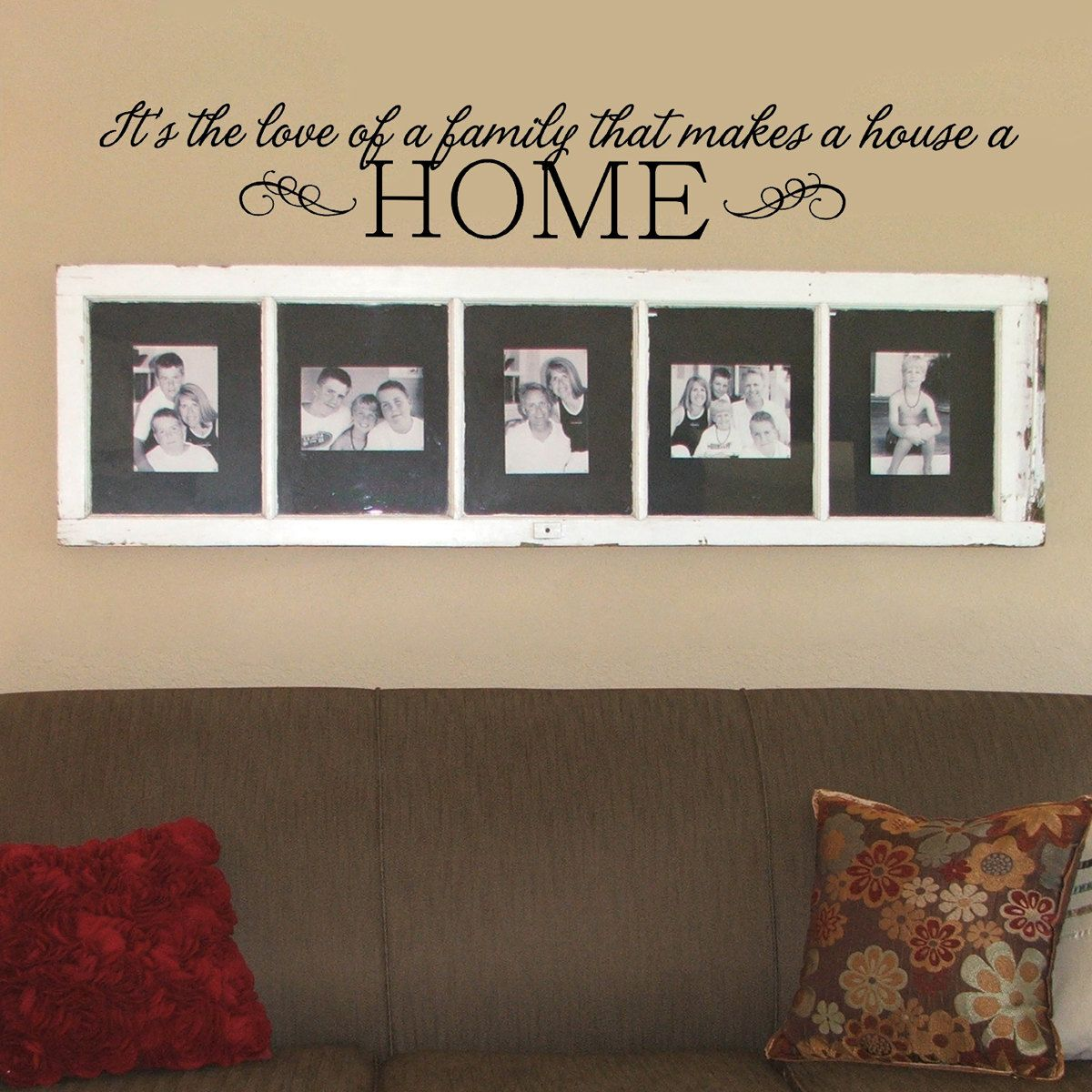 love of a family wall decal custom color family wall on wall stickers for living room id=41913