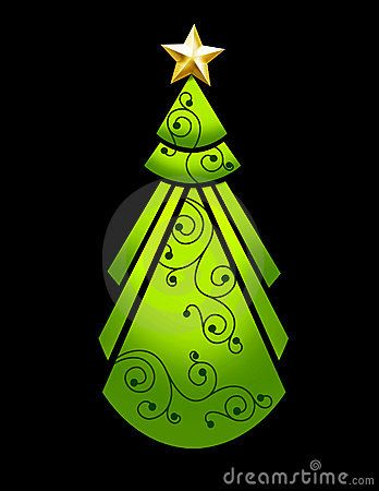 Art Deco Christmas Tree Christmas Tree Art Whimsical Christmas Trees Christmas Art