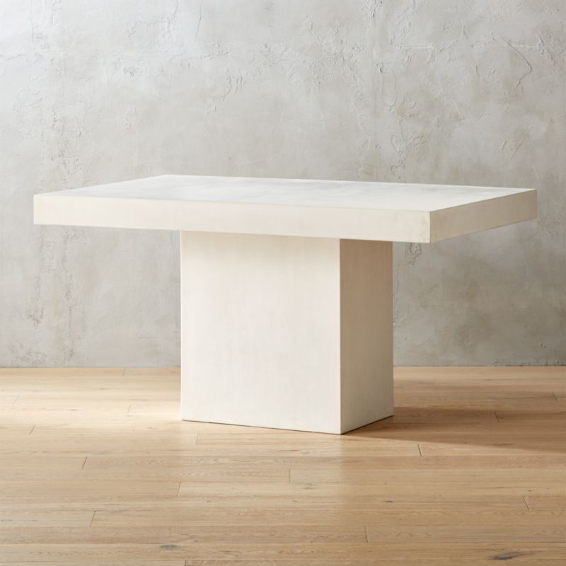 Shop Fuze Ivory White Stone Dining Table An Ivory Take On Our Classic Stone Dining Table Aggregate Of Mar Stone Dining Table Modern Dining Table Dining Table