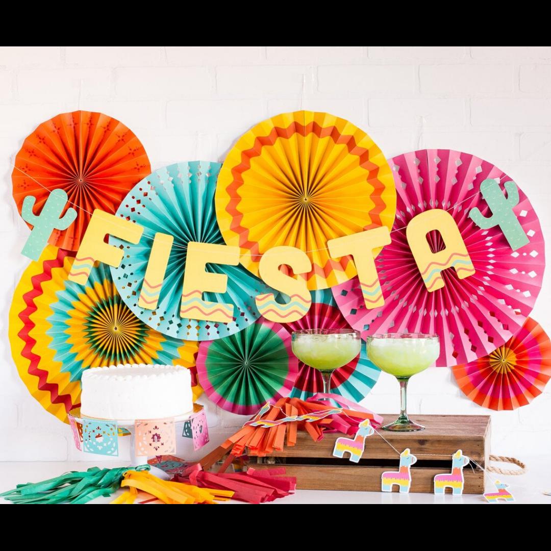 Fiesta Party Fan Decorations