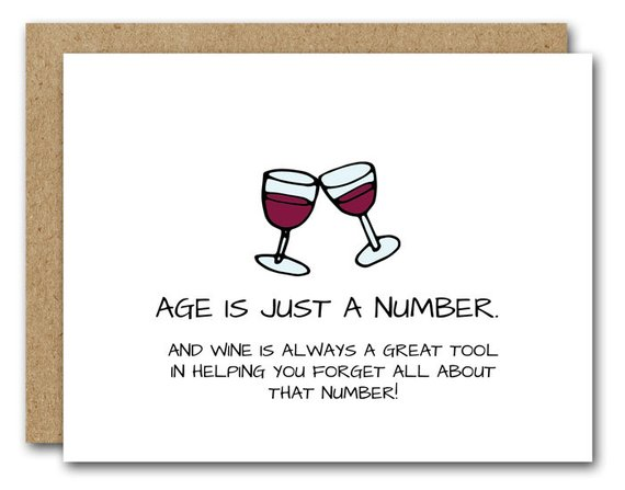 Funny Birthday Card Wine Lover INSTANT DOWNLOAD Friend 40th 50th Birthda