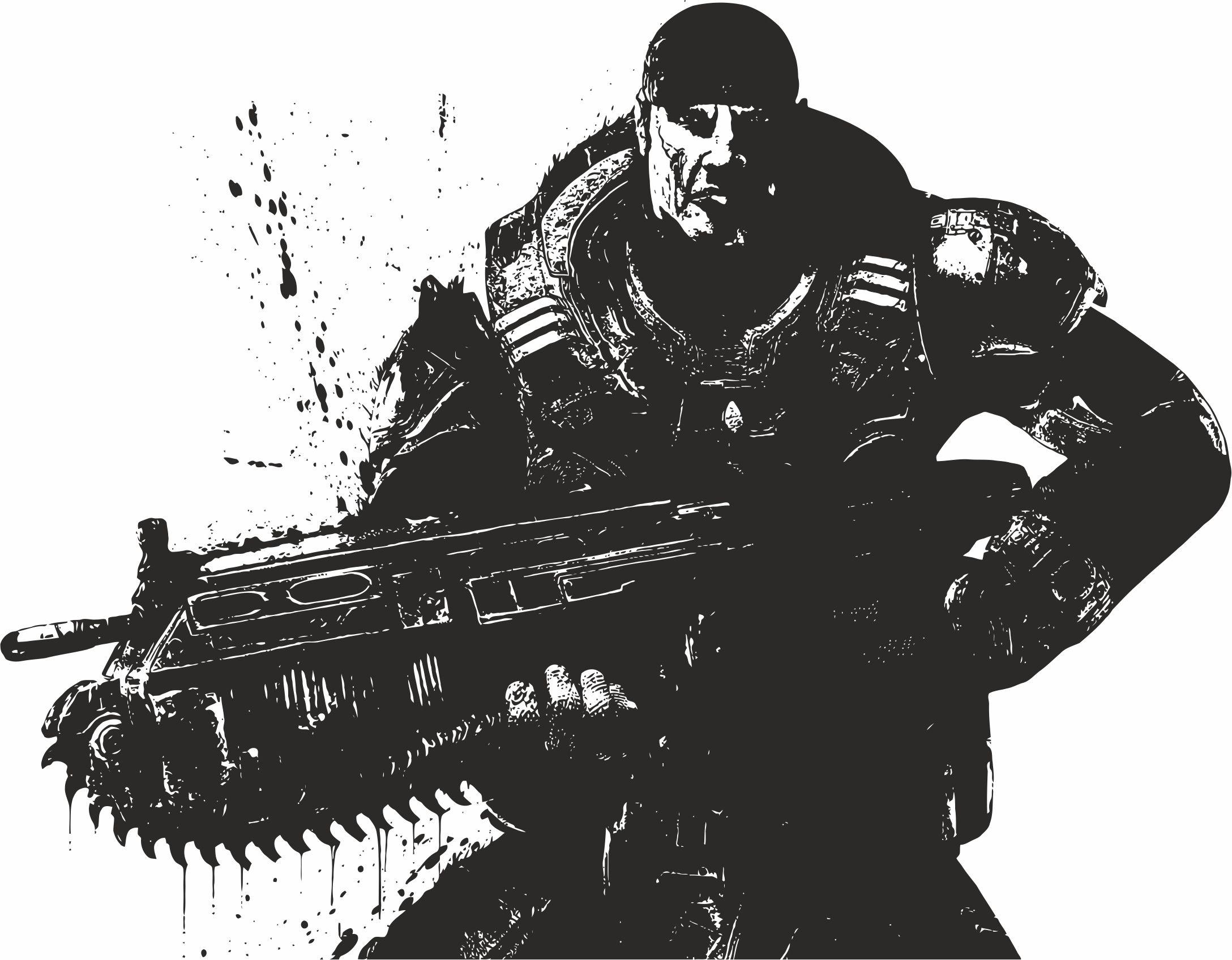 Gears Of War Vector Free Vector Cdr Download 3axis Co Gears Of War Gears Gears Of War 3